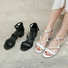 Spring Fashion Faux Leather High Heel Sandals Women's Casual Cozy Block Heels