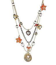 "Nwt Betsey Johnson Fabulous ""Sea Jewels"" Fish Pendant Necklace"