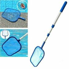 Swimming Pool Net Mesh Leaf Rake Skimmer W/Telescopic Pole Pools Spas Cleaner