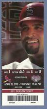 Albert Pujols HR 414 full season ticket 4-21-2011 Cardinals Angels