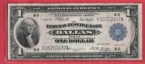 *** 1918  $1.00 SPREAD EAGLE NATIONAL FROM  DALLAS  TEXAS   ***
