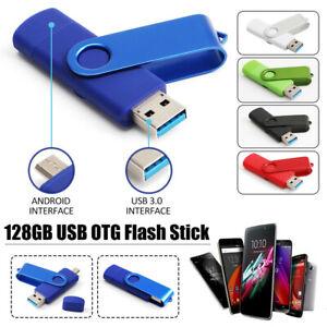 128GB USB 3.0 Memory Sticks OTG Flash Drive Laufwerk Speicherstick U Disk Gifts
