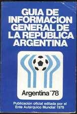 Argentina Soccer World Cup 1978 Book Guia De Informacion