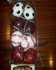 "New 2 1/2"" Plastic Fillable Easter Eggs Sports Balls Set Of 8 Containers Boy Grl"