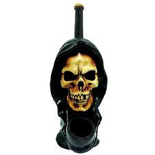 HANDMADE TOBACCO PIPE Black Hood Reaper Style.