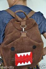 New Domo Kun Bookbag Plush Bag Multi Function Schoolbag Backpack