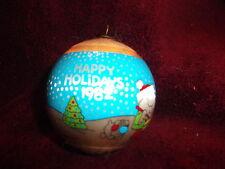 "ZIGGY & FUZZ Vintage 1982 Christmas Satin Ball Ornament 3"" great condition"