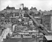 Photograph Vintage Mount Adams Incline Railway Cincinnati Ohio Year 1908  8x10