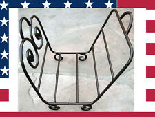 """Uniflame 19"""" Solid Steel Wrought Iron Bronze Finish Fireplace Log Holder"""