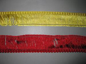 10 Meter Fransen Borde DDR 100 cm/0,50 €  4-5 cm breit Indianer Cowboy Fasching