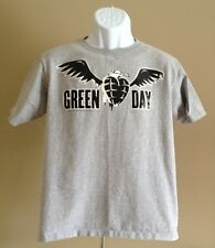 Pre-owned Youth Green Day Punk Rock Winged Heart Grenade Logo Gray T-Shirt XL
