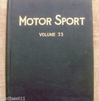 Motor Sport/ Volume 33/ The Teesdale Publishing/ 1957/January to December/London