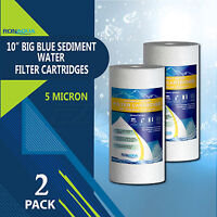 """2-PACK of Big Blue 10""""x4.5"""" 5 Micron Sediment Water Filters"""