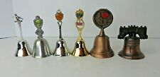 Lot of 6 Souvenir Bells Ny Tn Pittsburgh Dollywood Liberty Bell Witch #3223