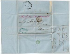 """Mauritius Letter w/ """"Ship Letter/Mauritius"""" in oval on back and """"8"""" manuscript"""