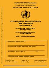 Internationaler  WHO Impfausweis Original Impfpass Impfbuch neu Corona Pflicht