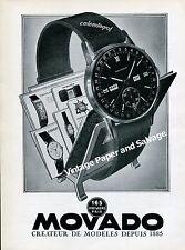 1945 Movado Calendograf Watch Advert Vintage 1940s Swiss Print Ad Suisse Schweiz