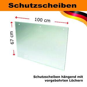 Hängender Spuckschutz Schutzscheibe 67 x 100 cm