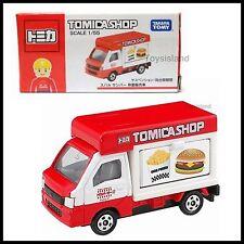 TOMICA SHOP SUBARU SAMBAR TRUCK Hamburger Fries 1/55 TOMY DIECAST CAR NEW