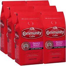 Community Coffee Premium Ground French Roast Extra Dark Roast, 12 Oz (6 Pack)