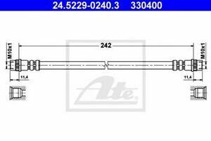 Flexible de frein PEUGEOT 206  (2A/C) 206  206 CC (2D) 206 SW (2E/K), RENAULT 11