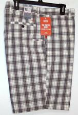 NWT Men's Dockers Classic Fit Flat Front The Perfect Shorts Size 40 Gray Plaid