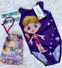 New Bold & Grit Doll Print Gymnastics Leotard Mesh Back Cl Grip Bag Stickers gk