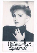 El Rancho Vegas Casino Zsa Zsa Gabor Autographed Postcard Las Vegas Nevada 1960