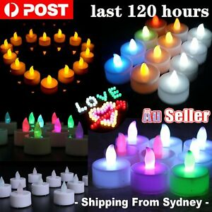 UP72x LED Candles Tealight Tea Lights 120H Flameless Flickering Battery Operated