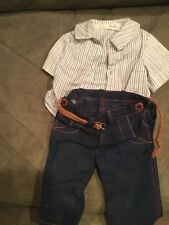 Doll Terri Lee Clothing Jerri Lee Shirt Jeans and Leather Belt 1950's