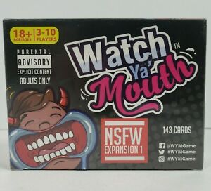 Watch Ya' Mouth NSFW Expansion Pack 1 Adult Party Game 143 Cards