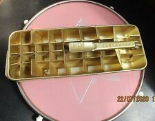 Ancien Bac à glaçons QUICKUBE FRIGIDAIRE doré Vintage années 50s