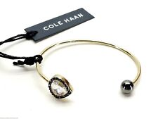 Cole Haan Twilight Teardrop and Ball Open Cuff Bracelet Goldtone New!