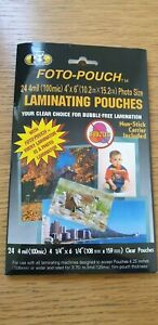 Foto-Pouch Laminating Pouches Photo Size (pack of 24)