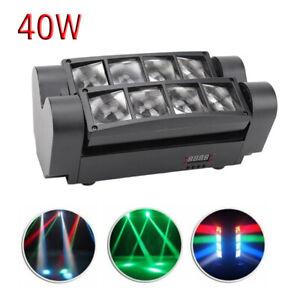 Spider Moving Head Stage Lighting Beam DMX Disco Party DJ Light 40W RGBW 8LED