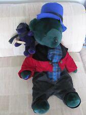 North American Bear Co VIB 1993 'BEARB CRATCHIT & TINY TED' Xmas L/E #457/8000 +