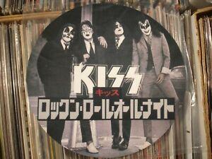 "KISS  ~ Japanese Dressed To Kill  RnR All Nite ~ Full Color 12"" LP Turntable Mat"