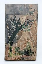 Antique Chinese Jade Carving Panel Original Old Hand Carved Fine