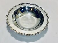 Stunning Antique Victorian Style Footed Silver Plated Bowl By Poole