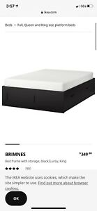 ikea bed frame with storage full