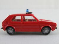 """Wiking 606/3 VW Golf I (1974-1978) """"FEUERWEHR / ELW"""" 1:87/H0 guter Zustand"""