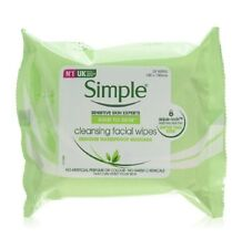 SIMPLE CLEANSING FACIAL WIPES - 25 WIPES REMOVE WATERPROOF MASCARA