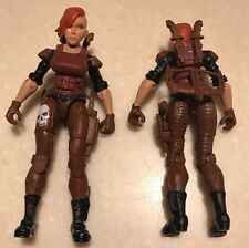 "TWO! Lanard 3.75"" Custom RARE FEMALE FIGURES GI JOE Type Soldier Mercenaries"