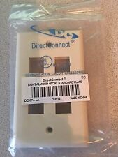 DirectConnect Light Almond 4port Standard Plate - New Box of 20