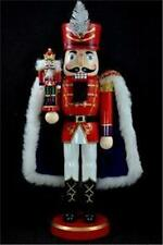 Nutcracker Prince with mini Nutcracker Royal Red Blue Cape Christmas 14401