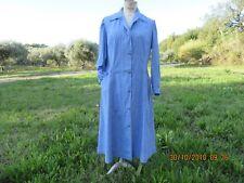 Vintage Blouse Jean denim léger coton Bleu