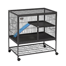 Midwest Deluxe Ferret Nation Double Unit Ferret Cage Model 182 Includes 2 Pans,