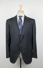 New D'AVENZA Gray Herringbone Wool 3 Roll 2 Button Sport Coat Size 52/42 R $2995