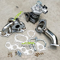 Exhaust Manifold Header +Downpipe +TD04 Turbocharger for Toyota EP82 EP91 4EFTE