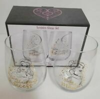 Disney Princess Tumbler Glass Set Christmas Gift Pack of 2 Brand New
